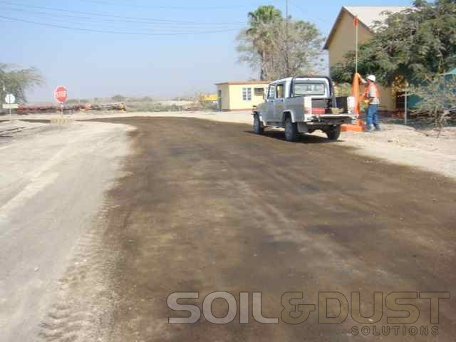 Dust abatement solutoin for plant roads
