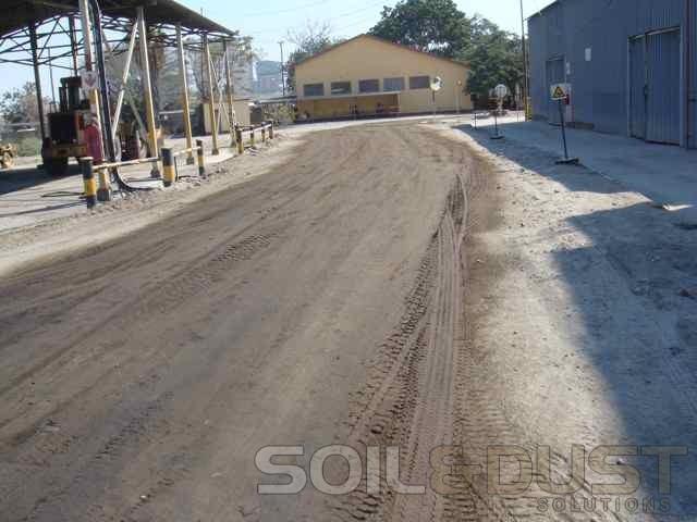 Internal road dust suppression