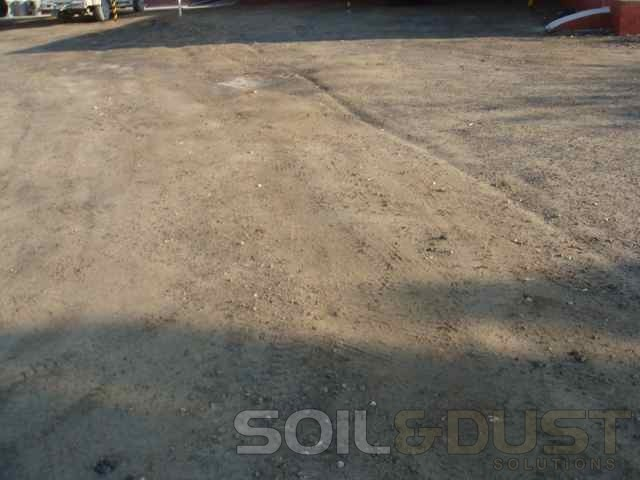 Parking area in need of dust control solution