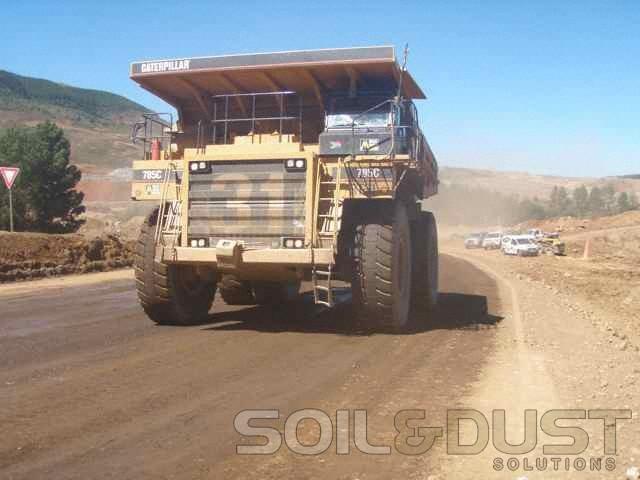 -Mine haul road dust suppression