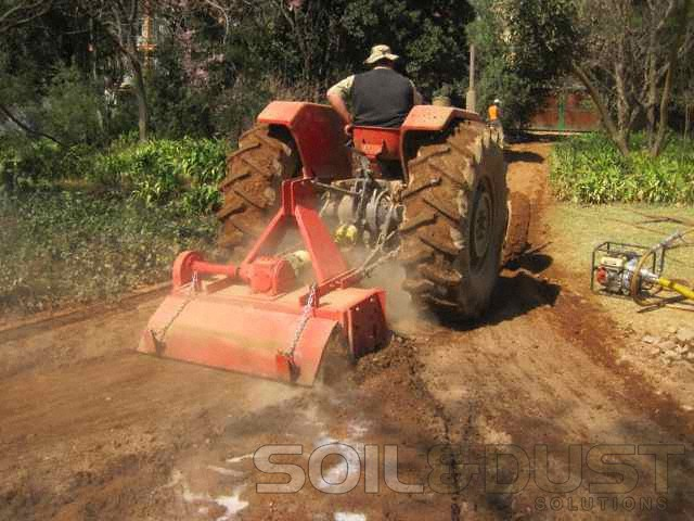 Gravel road stabilization upgrade