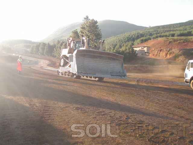 Tracked Vehicle Dust Prevention