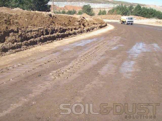 Durasolution mine haul road application