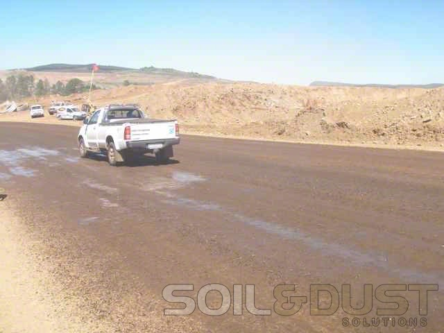 Dust suppression for haul roads