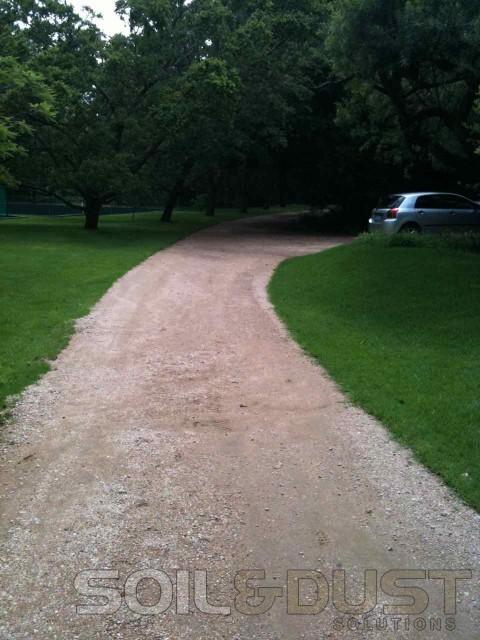 Private estate road Before upgrade