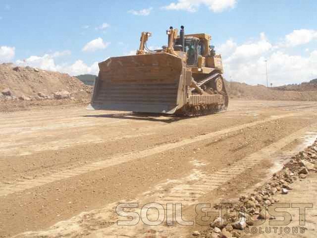 Haul road dust prevention