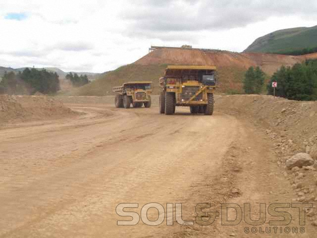 -Haul road dust containment