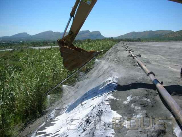 Mine tailings dust abatement