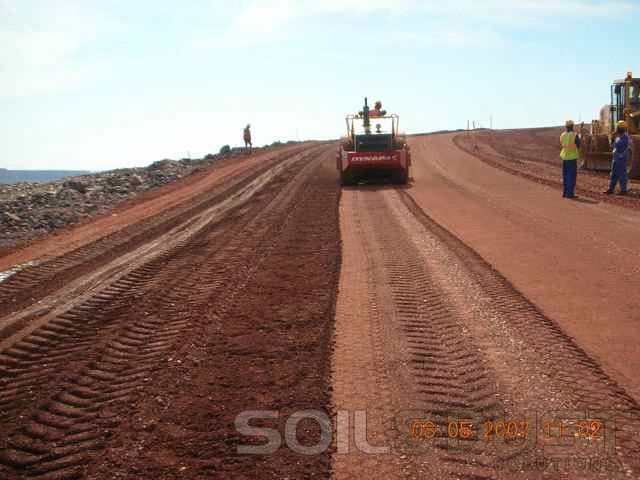 Mine Haul Road Compaction