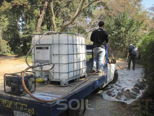 EBS stabilization of gravel road