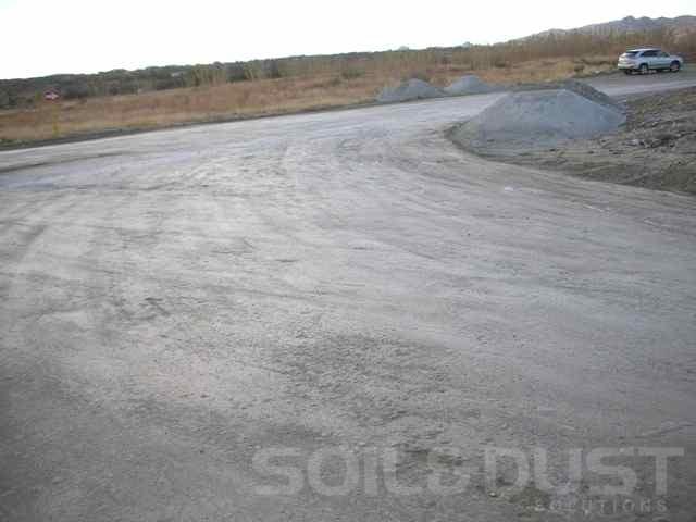 EBS treated mine access road