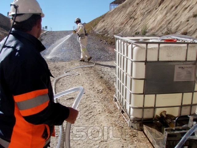 Dust Control on Decline Great basin Gold mine