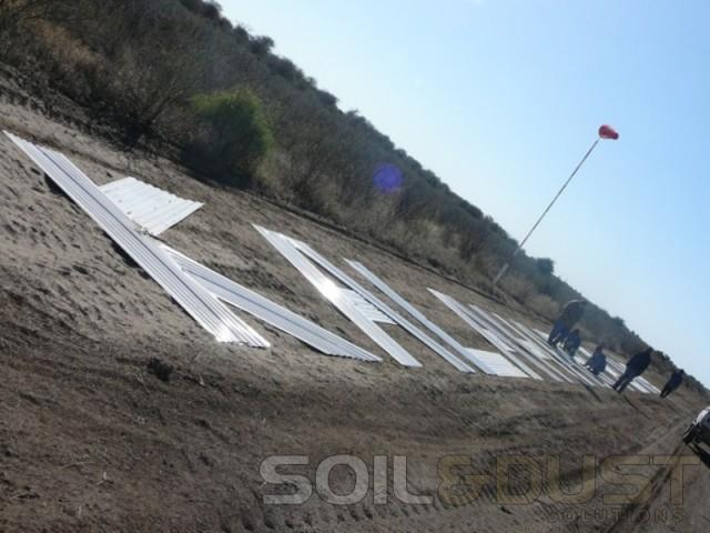 kalahari airstrip construction