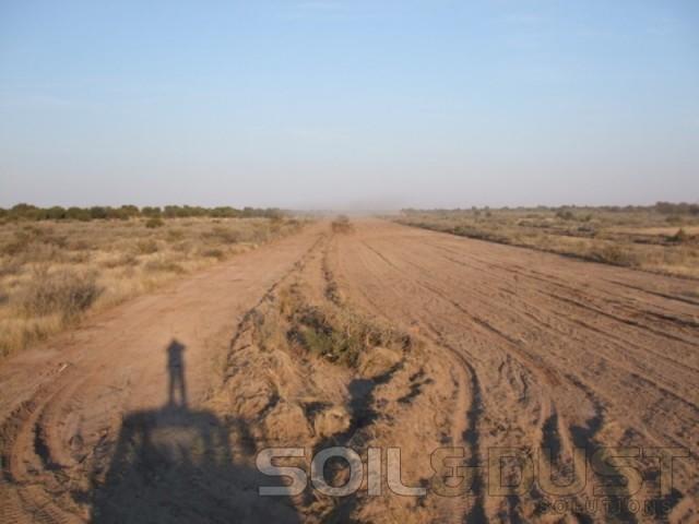 kalahari game reserve runway construction