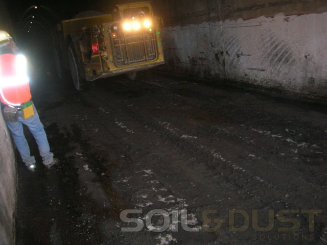 Underground mining dust control