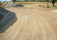 Mine haul road