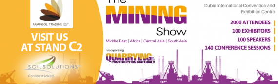 Soil Solutions is exhibiting at the Dubai Mining show – October 2017