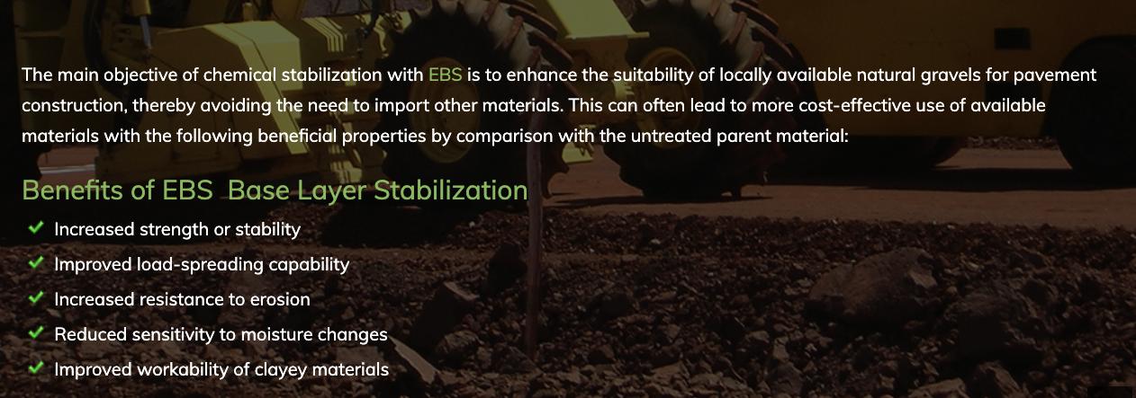 Benefits of base layer stabilisation
