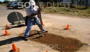 pothole repair - compacting each layer