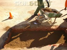 Pothole repair - add layers of in-situ soil