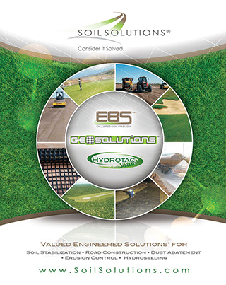 Dust solutions with EBS, Geogrid and Hydrotac
